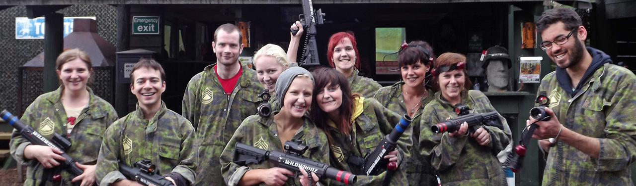 Wildwoodz Paintball, Lasertag, Archery, Axe Throwing on the Black Isle near Inverness